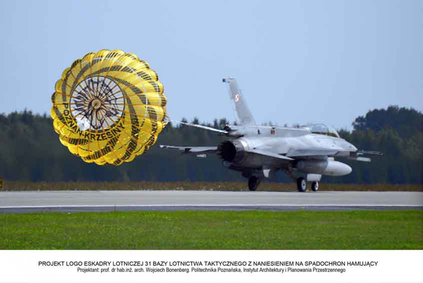 The Logo of the Squadron on the F-16 Jet Drogue Parachute